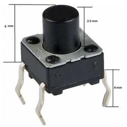 6x6 6mm Tach Buton (4 Bacak) - Thumbnail