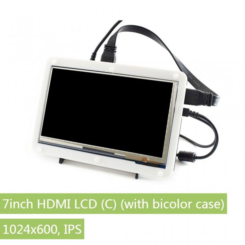 7 inç HDMI IPS LCD Ekran (C) -1024×600 - Renkli Ekran Muhafazalı