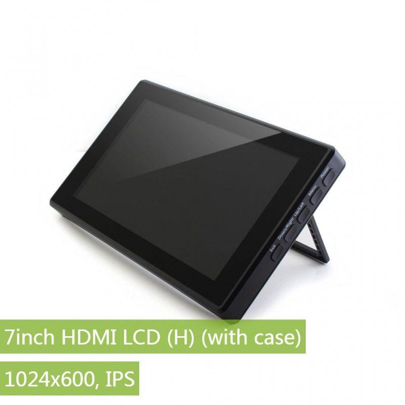 7 Inch HDMI IPS LCD Ekran (H) - Muhafazalı - Raspberry Pi Uyumlu - 1024x600