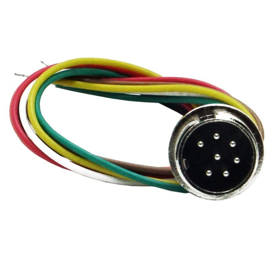 7-Pin Kablolu Erkek Mike Konnektör GX-16