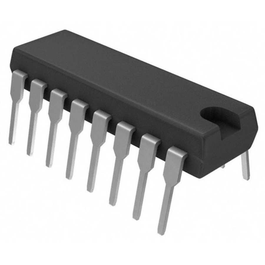 74HC4051 DIP-16 Multiplexer - Demultiplexer Entegresi
