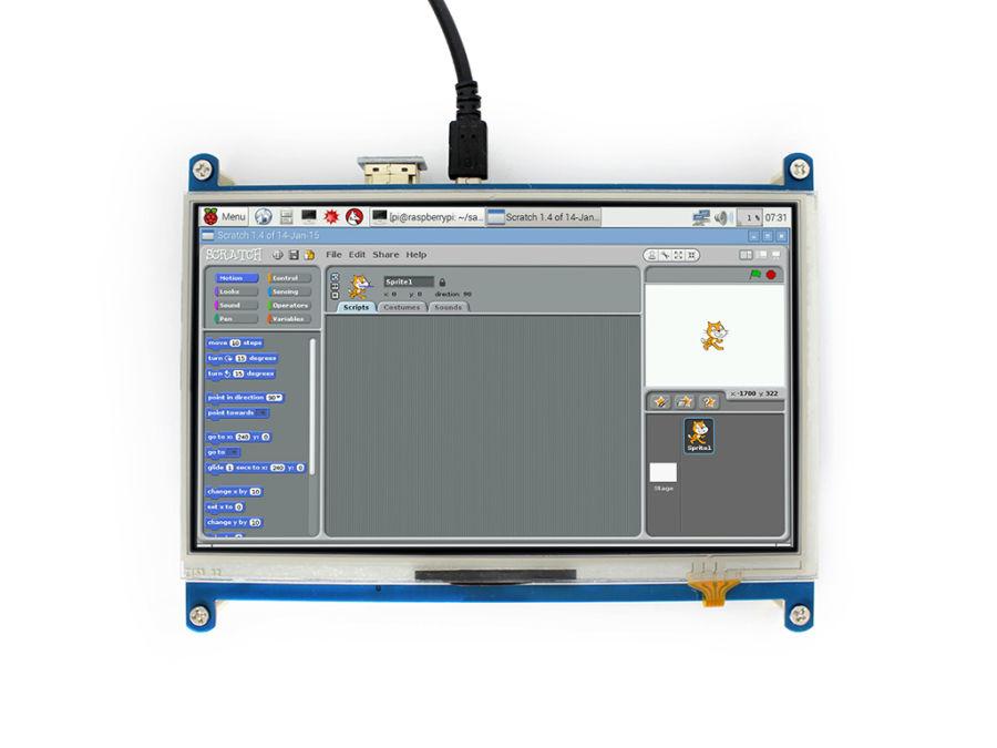 7inch HDMI LCD-Raspberry Pi Uyumlu 1024×600-IPS