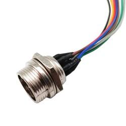 8-Pin Kablolu Erkek Mike Konnektör GX-16 - Thumbnail
