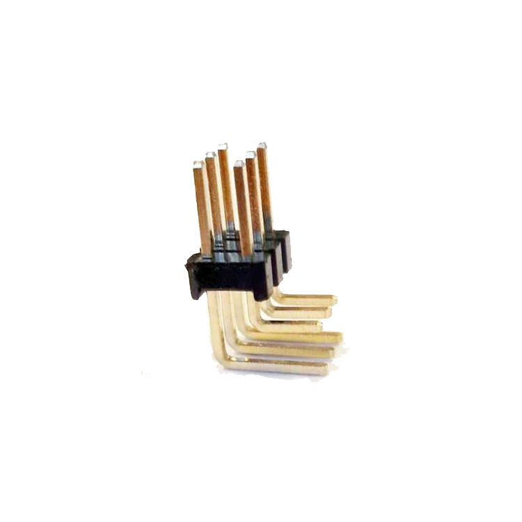8.50mm 2x3 Erkek Pin Header - 2.54mm - 90 Derece