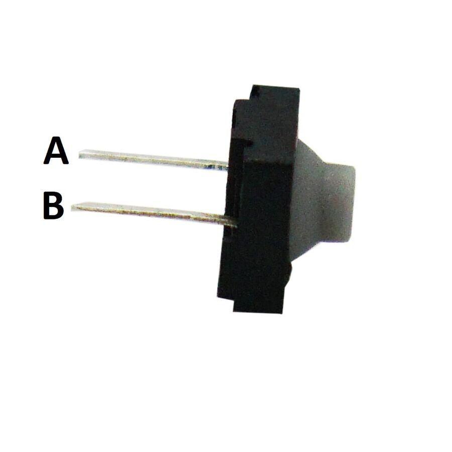 8x8 5.5mm 2 Pinli Plastik Başlı Buton