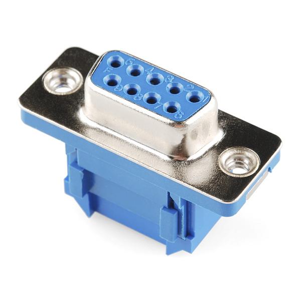 9 Pin Dişi Flat Kablo İçin Sıkıştırmalı D-Sub Konnektör