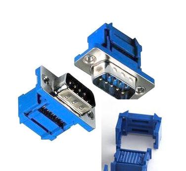 9 Pin Erkek Flat Kablo İçin Sıkıştırmalı D-Sub Konnektör