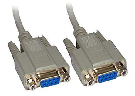 RS232 - Seri Port - 9 Pin Dişi - Dişi Kablo 1.5 Metre - Beyaz