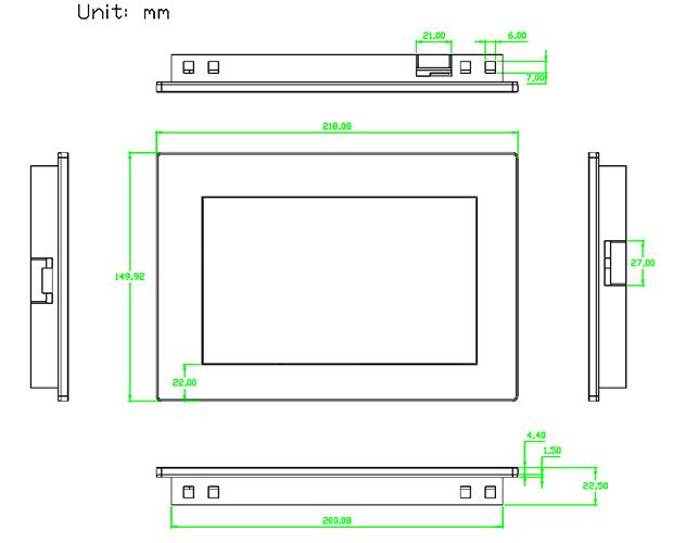 Nextion 7 Inch TFT LCD Dokunmatik Ekran ve Muhafaza