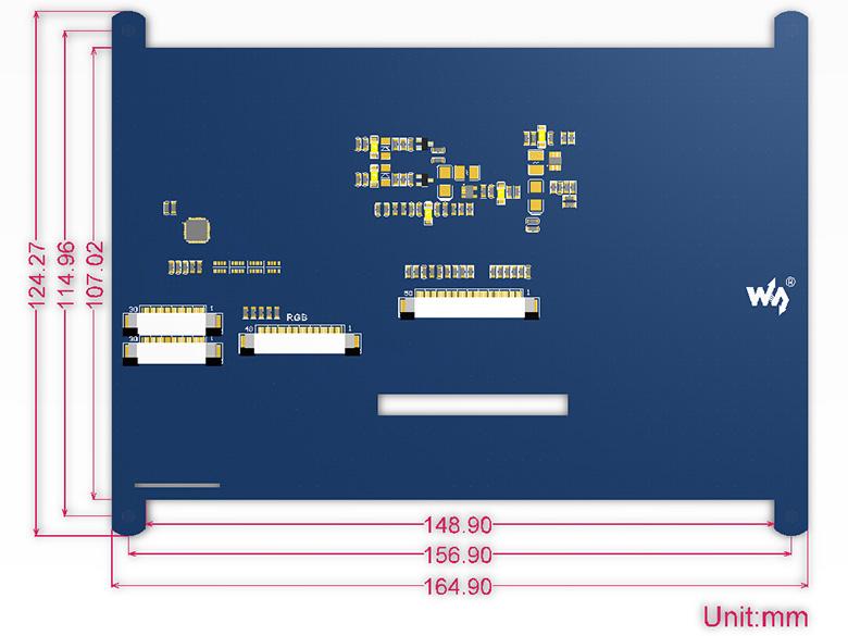 7 Inch Dokunmatik Ekran Boyutları