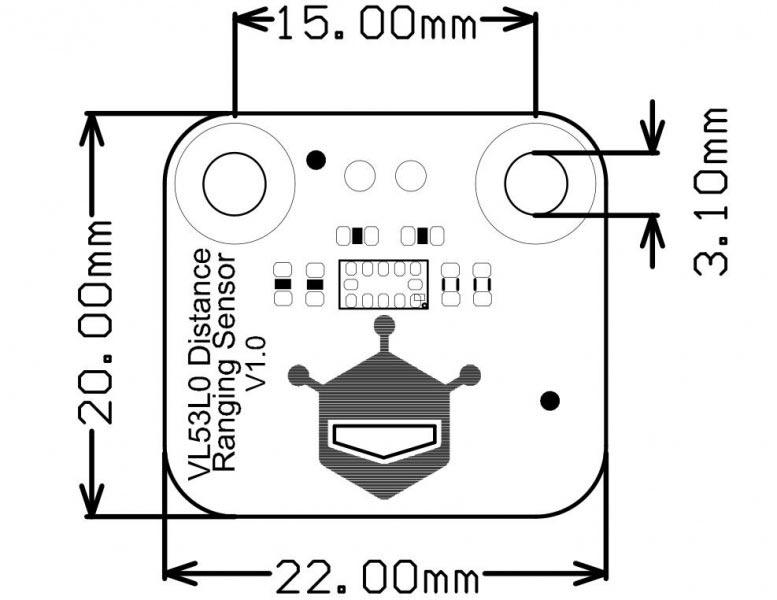 VL53L0X Kızılötesi Mesafe Sensörü