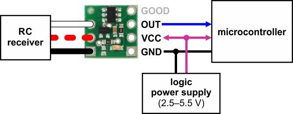 Dijital Çıkışlı RC Switch - RC Anahtarı - Pololu - 2801 - 01