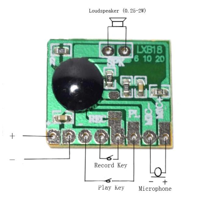 ISD1806 Ses Kayıt Devresi Bağlantı Şeması