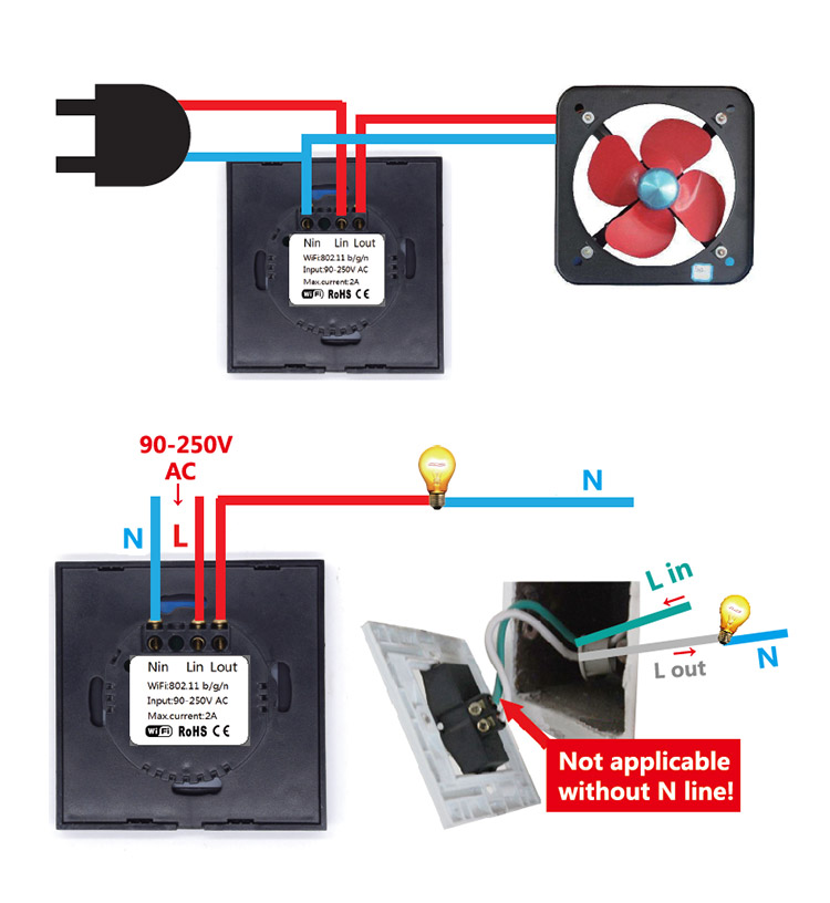 Kablosuz Işık Anahtarı - Dokunmatik Işık Anahtarı
