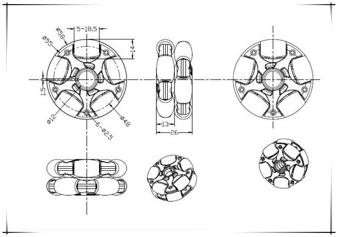 Omni 58mm Tekerlek Ölçüleri