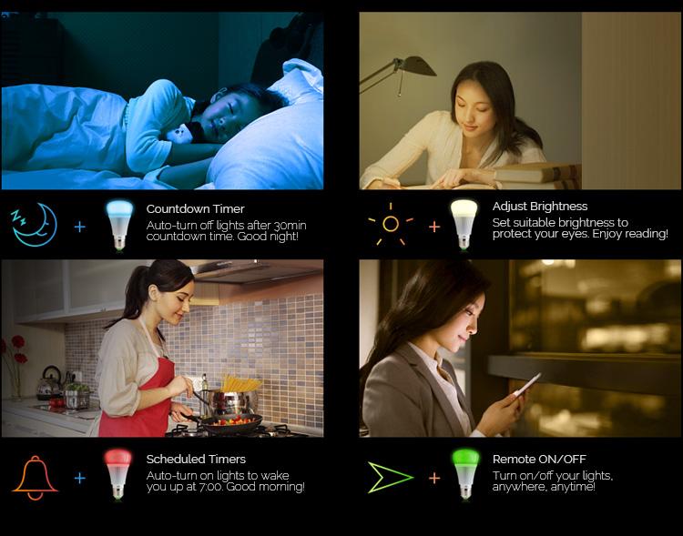 Cep Telefonuyla Kontrol Edilebilen Akıllı Led Lamba