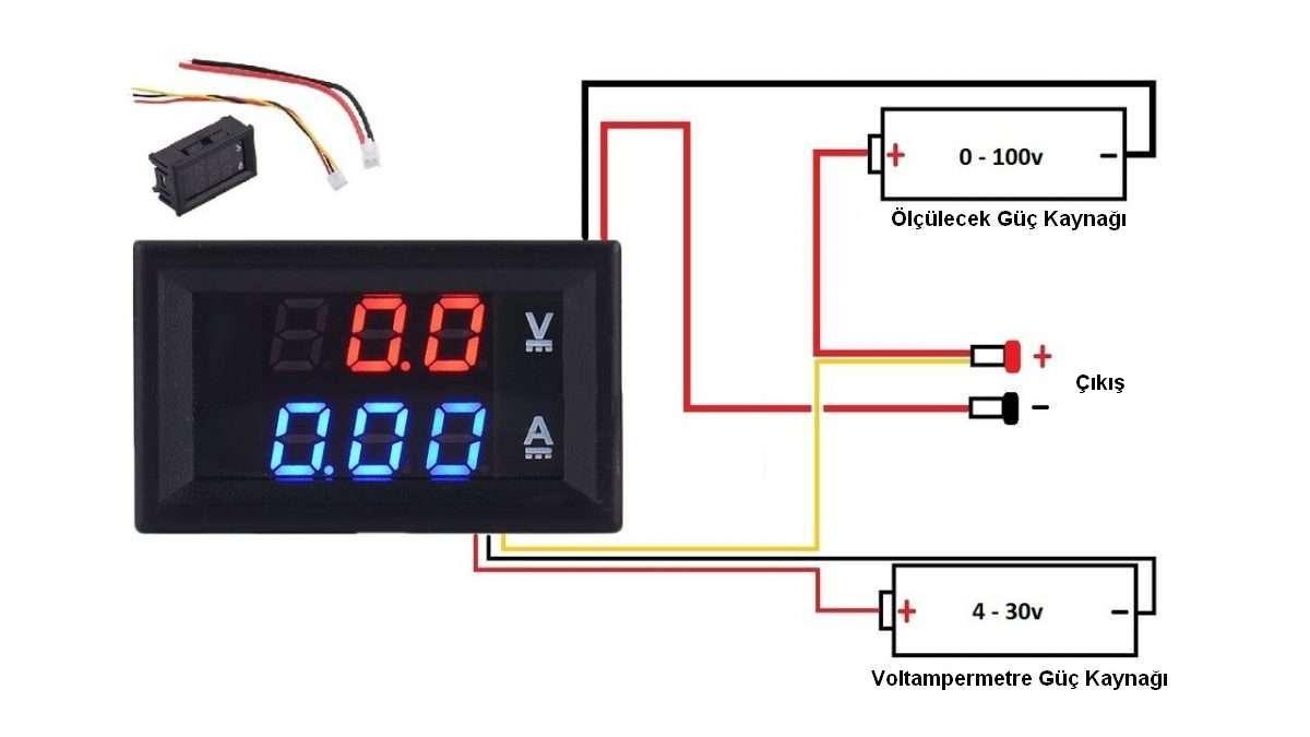 Voltampermetre Bağlantı Şekli