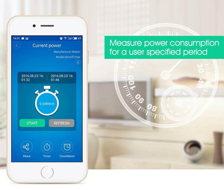 Akıllı Ev Sistemi Kablosuz Wifi Röle Kartı Sonoff Pow