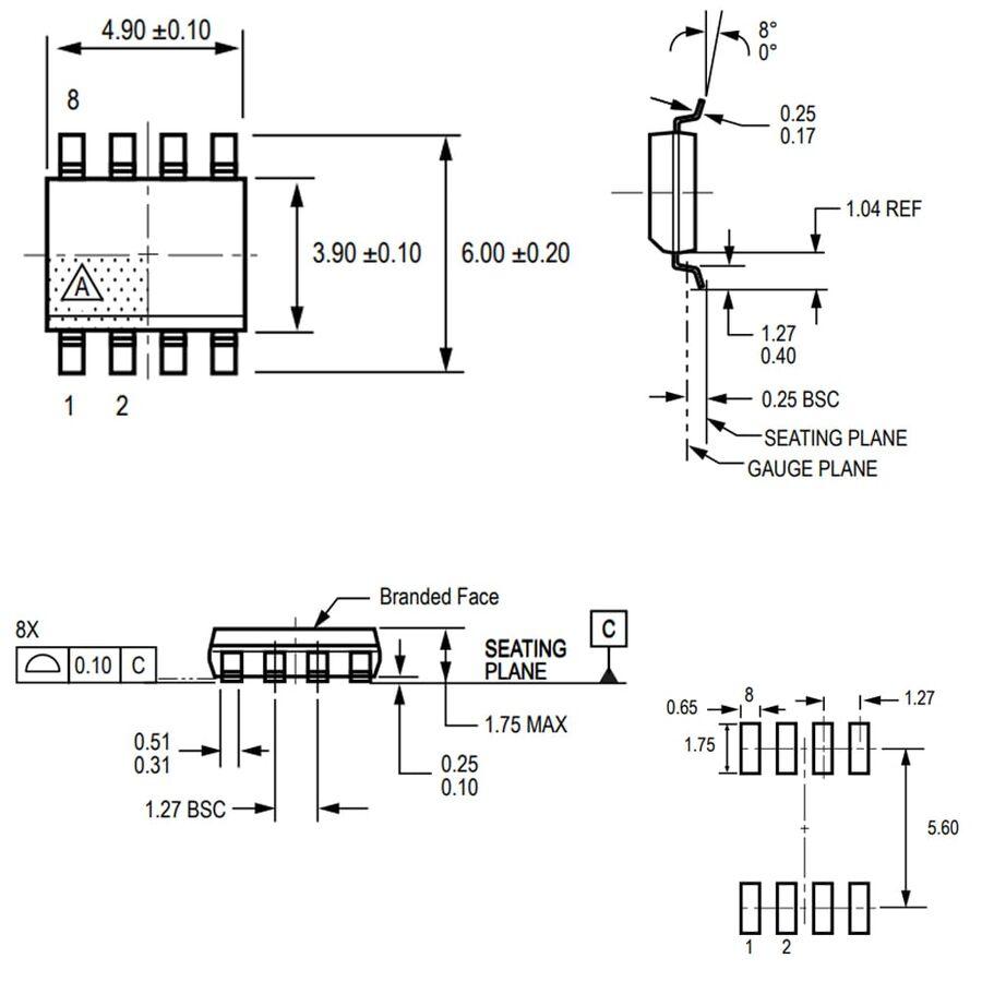 ACS712-20A Smd Akım Sensörü Entegresi Soic-8