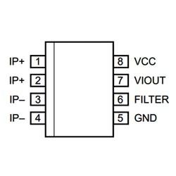ACS712-5A Smd Akım Sensörü Entegresi Soic-8 - Thumbnail