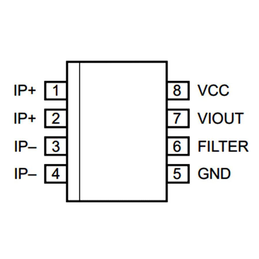 ACS712-5A SMD Current Sensor Integration SOIC-8