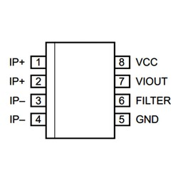 ACS712-5A SMD Current Sensor Integration SOIC-8 - Thumbnail