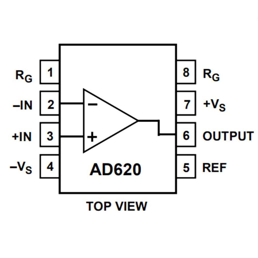 AD620AN Enstrümantasyon Yükselteci Entegresi Dip-8
