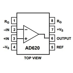 AD620ARZ Smd 900uA 30uV OpAmp Entegresi Soic-8 - Thumbnail