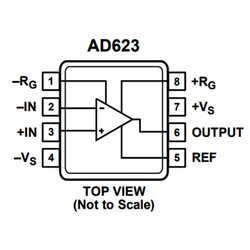 AD623AN Enstrümantasyon Yükselteci Entegresi Dip-8 - Thumbnail