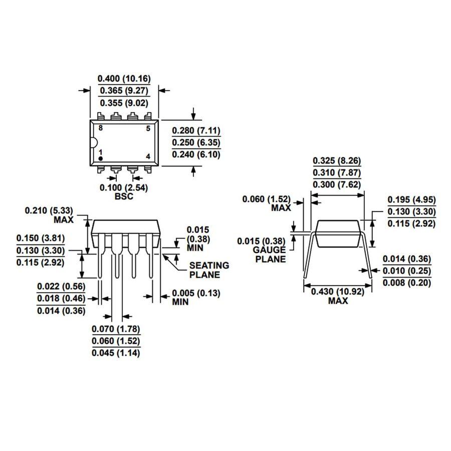 AD623AN Enstrümantasyon Yükselteci Entegresi Dip-8