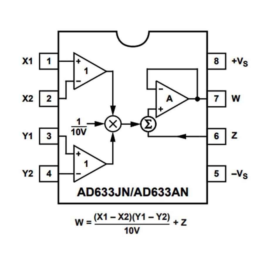 AD633JN Analog Çoğaltıcı Entegre Dip8