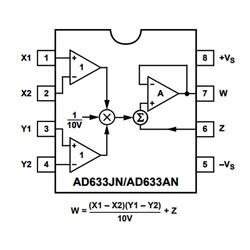 AD633JN Analog Çoğaltıcı Entegre Dip8 - Thumbnail