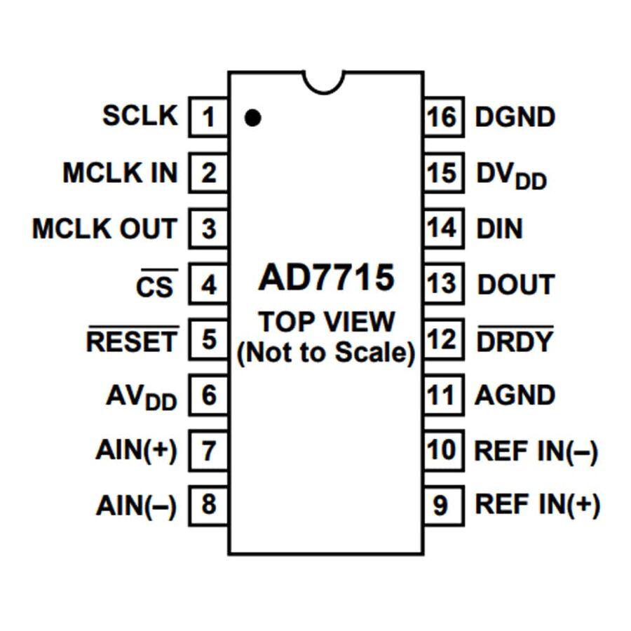 AD7715ANZ Analog Dijital Çevirici Entegresi Dip-16