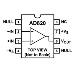 AD820AN OpAmp Entegresi Dip-8 - Thumbnail