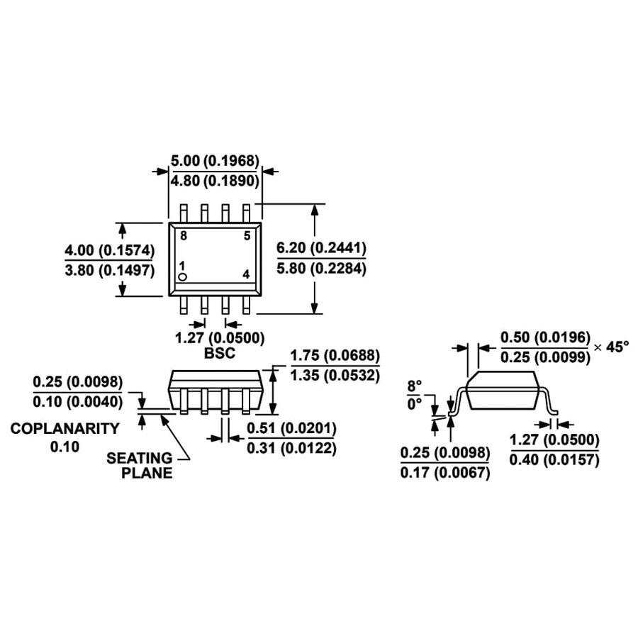 AD8572ARZ Smd Op-Amp Entegresi Soic-8