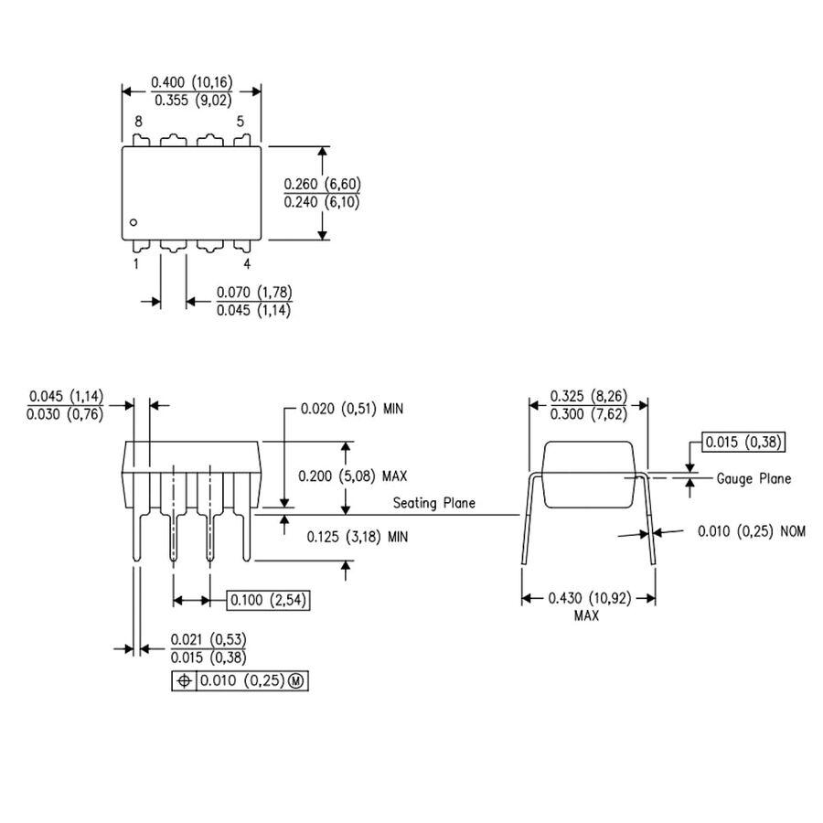 ADC0831 Analog Dijital Çevirici Entegresi Dip-8