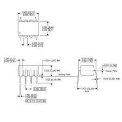 ADC0831 Analog Dijital Çevirici Entegresi Dip-8 - Thumbnail