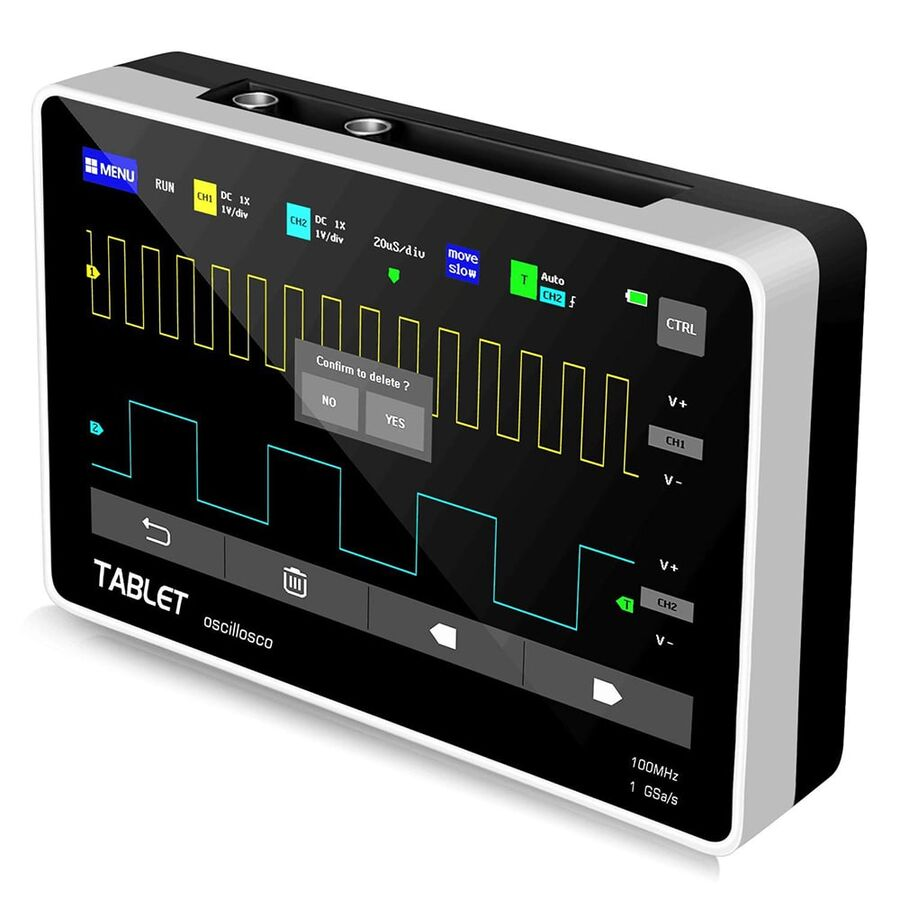 ADS1013D 100MHz 2 Kanal 1GSa/s Dijital Dokunmatik Tablet Osiloskop