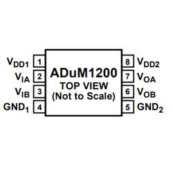 ADUM1200ARZ 2 Kanal İzolatör Entegresi Soic8 - Thumbnail