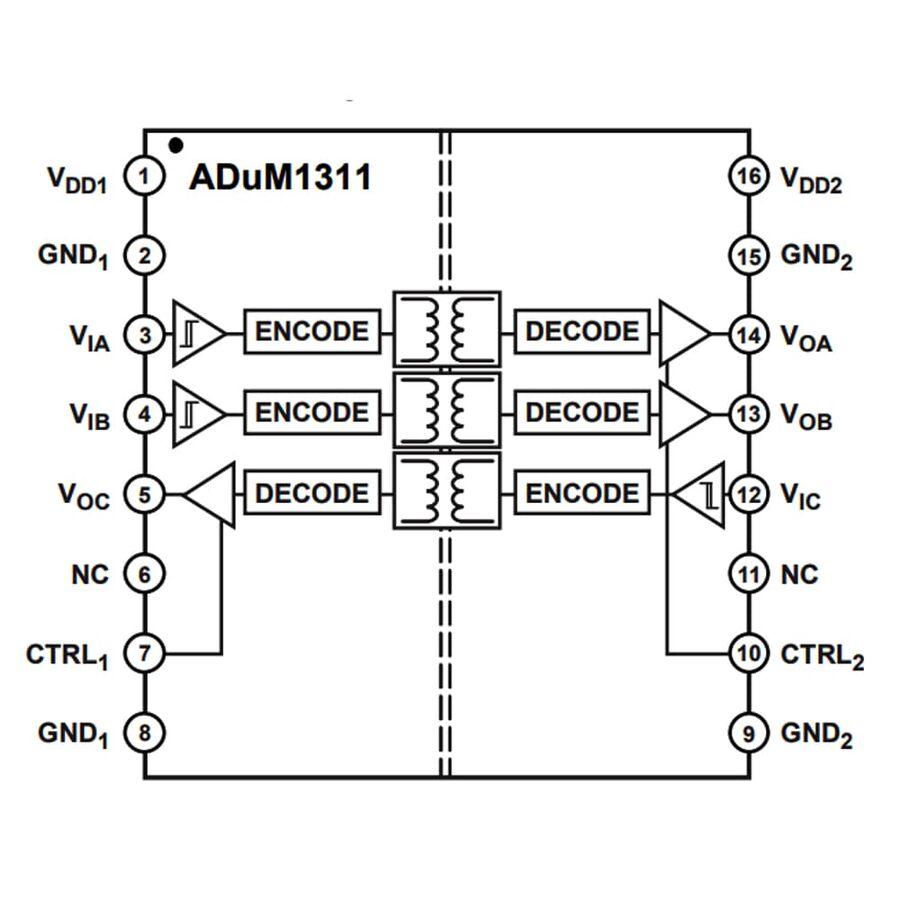 ADUM1311ARWZ-RL 3 Kanal İzolatör Entegresi Soic-16