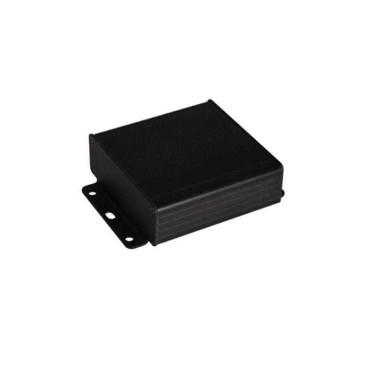 AL-104-15 Alüminyum Profil Kutu Siyah 104 x 35 x 154mm - Kulaklı Kapak