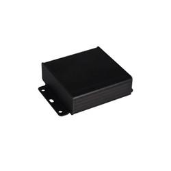 AL-104-15 Alüminyum Profil Kutu Siyah 104 x 35 x 154mm - Kulaklı Kapak - Thumbnail