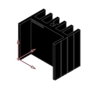 Alüminyum Soğutucu - 16.50x30.00x23.80mm