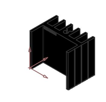 Alüminyum Soğutucu - 16.50x25.00x23.80mm