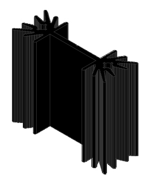 Alüminyum Soğutucu - 12.30x25.00x25.00mm
