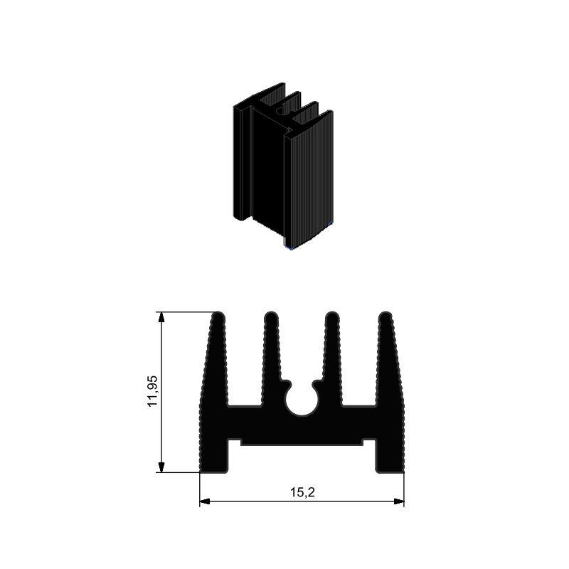 Alüminyum Soğutucu - 11.95x25.00x15.20mm