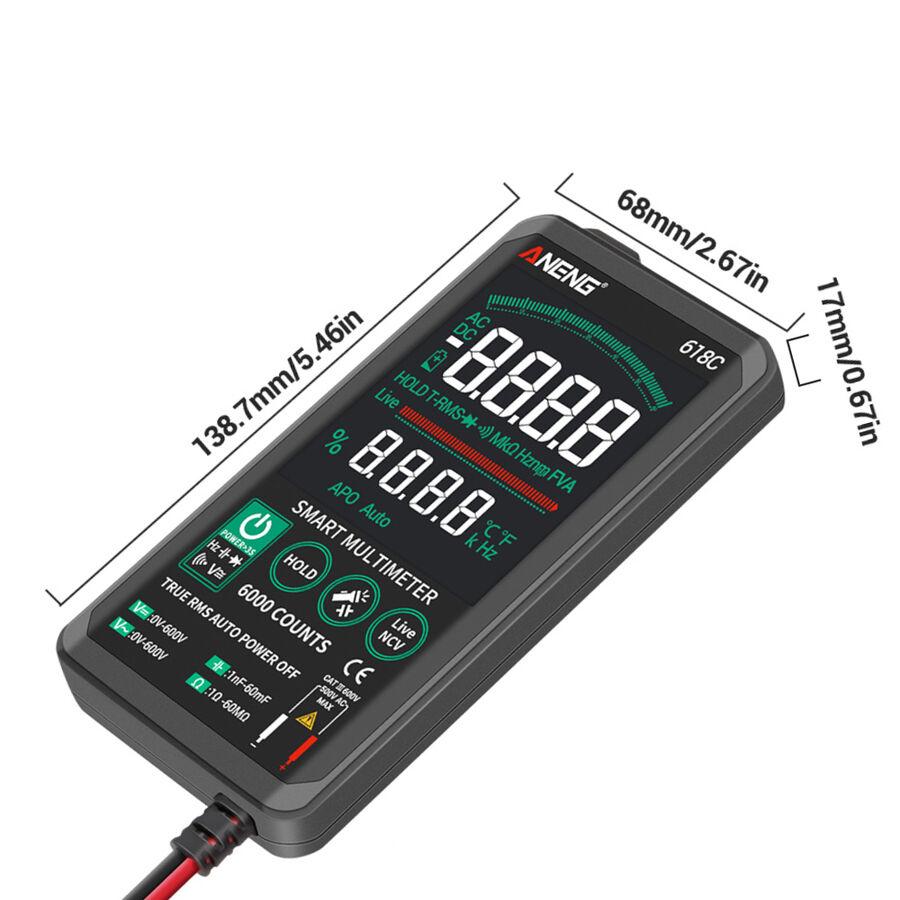 ANENG 618C Dijital Dokunmatik Multimetre