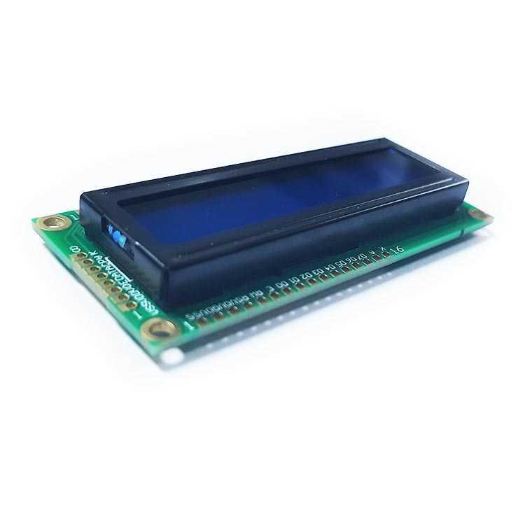 2x16 Lcd Ekran Sol Üst - Sol Alt - Mavi - BJ1602A2