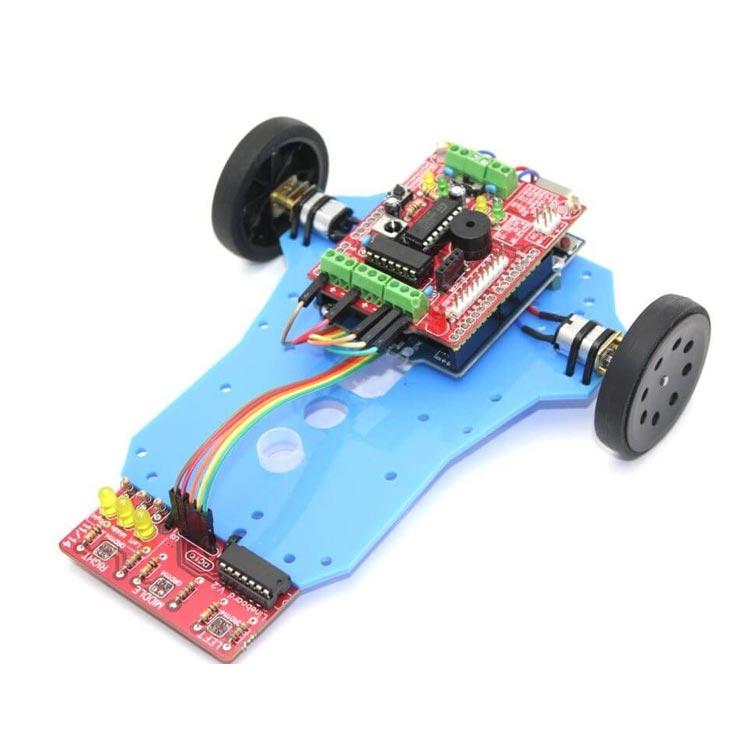 Arduino Basit Çizgi İzleyen Robot Kiti - Arduline (Demonte)