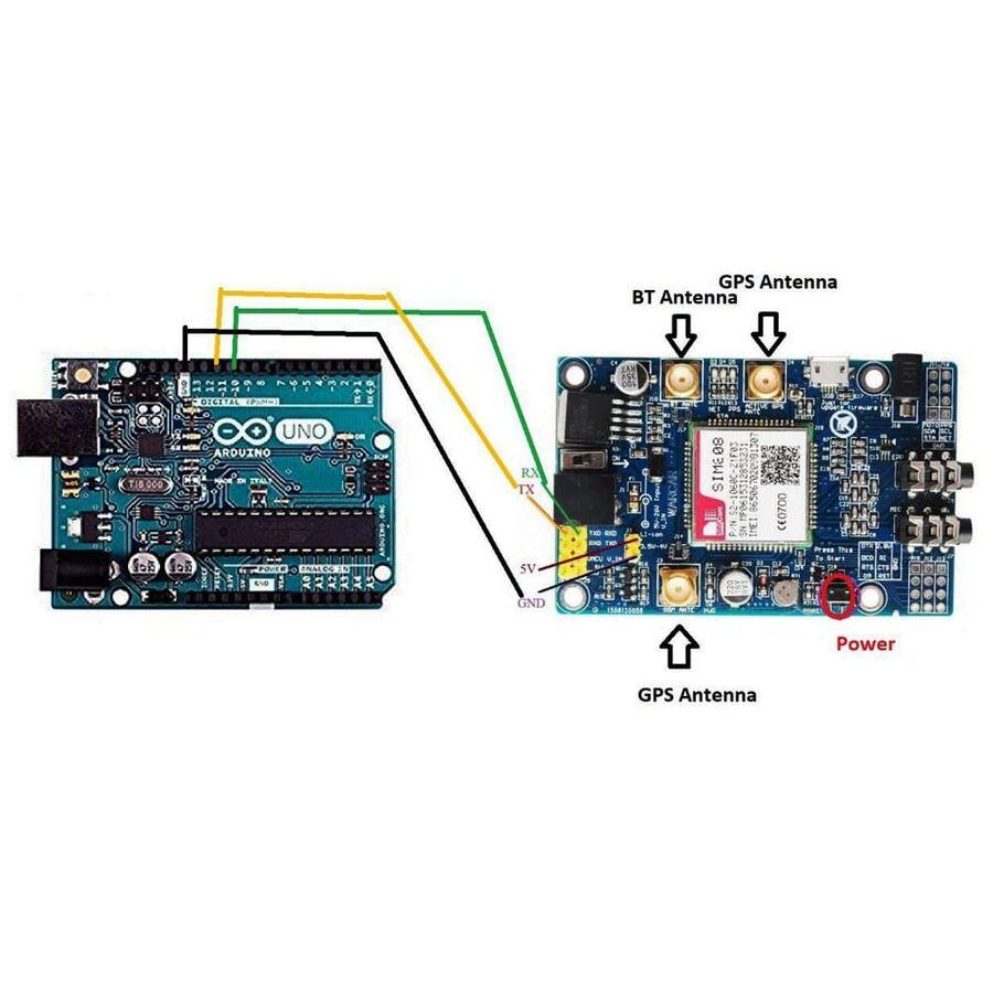 SIM808 Arduino - Raspberry Pi GSM - GPS - GPRS Geliştirme Modülü (IMEI No Kayıtlıdır)
